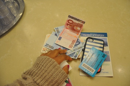 Euros, a map and my third hand aka my iphone